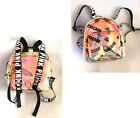 Victorias Secret Pink Clear Iridescent Mini Backpack Los Angeles Logo New