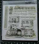 Close To My Heart D1293 ENJOY YOUR JOURNEY Train Engineer Railroad Stamp Set NIP