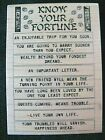 Fortune Cookie Know Your Fortune Inkadinkado Tin Can Mail Rubber Stamp Future