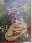 Dimensions Sweet Nativity Manger Scene Animals Needlepoint Stocking Kit 9104