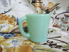 Anchor Hocking Oven Ware FIRE-KING Jadeite Jadite Green D Handle Coffee Mug Cup