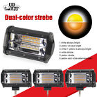 4x5 LED Fog Snow Work Light Bar Flush Mount Pods White Amber Strobe PK 4 8