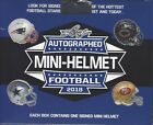 2018 LEAF FOOTBALL AUTOGRAPHED MINI HELMET FACTORY SEALED HOBBY BOX