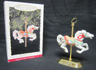1993 Hallmark Tobin Fraley Porcelain Carousel Horse Ornament with Stand