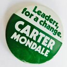 Jimmy Carter Mondale 1976 Democratic Presidential Political Campaign Button Pin