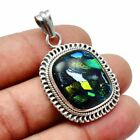 Dichroic Glass Solid 925 Sterling Silver Pendant Jewelry SP-7612