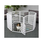 Dog Pet Pen Exercise Kennel Play Portable Containment Indoor Outdoor 8 Panel NEW