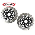 For BIMOTA SB6 1100 1996 1997 1998 1999 2000 SB6R Front Brake Disc Rotors Black