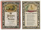 Antique 1800s HAND COLORED Victorian Childrens Cards 25 HYMNS FOR THE YOU