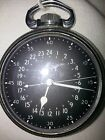 Vintage Military Government Contract Hamilton 24 Hour Pocket Watch - NOW 25% OFF
