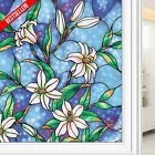 Stained Glass Decorative Window Film Static Cling Shower Door Privacy Home Decor