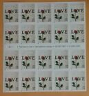 USP Stamps LOVE LETTER and RED ROSE 20 stamps in booklet 34c 3497 2001