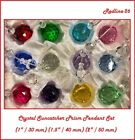 Faceted Glass Crystal Ball Prism Pendant Suncatcher Set  1 2  Feng Shui