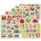 Alphabet Number Puzzle Kid Learning Wooden ABC Letters Pre School Educational
