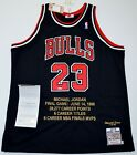 AUTO LE23 UDA MICHAEL JORDAN CHICAGO BULLS EMBROIDERED CAREER JERSEY