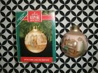 1990 VINTAGE! HALLMARK CHRISTMAS ORNAMENT GLASS BALL BETSEY CLARK #5  ~T15
