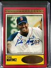 2018 Topps Brooklyn Collection PEDRO MARTINEZ on card AUTO RED #12 15 Red Sox