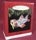 Hallmark Ornament 1993 Tin Airplane, Holiday Fliers, Pressed Tin, Toy