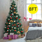 Goplus 8 Ft Artificial PVC Christmas Tree w Stand Holiday Season Indoor Outdoor