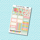 A123 Spring Flowers Weekly Kit Planner Stickers for Erin CondrenHappy Planner