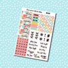 A124 Spring Flowers Date Cover Planner Stickers for Erin CondrenHappy Planner