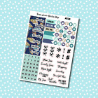 A128 Peacock Date Covers Planner Stickers for Erin CondrenHappy Planner