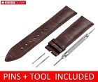 For Zenith Watch Dark Brown Leather Strap Band Buckle 18 19 20 21 22mm