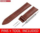 For Zenith Watch Brown Leather Strap Band Buckle 18 19 20 21 22mm