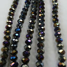 1000pcs AB black glass crystal Faceted Rondelle loose bead 8mm