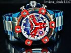 Invicta Marvel 63mm Grand Arsenal CAPTAIN AMERICA Chrono Blue/Red Dial SS Watch