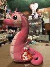 Ty MAJESTIC -Pink/Sparkly Fabric Seahorse 6