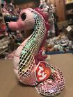 "Ty MAJESTIC -Sparkly Rainbow Seahorse 6"" Beanie Baby! *Retired* RARE"