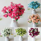 US 2 Bunch Artificial Mini Flower Red Rose Silk Fake Floral Home Decor Girl Gift