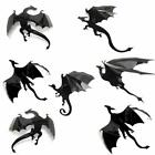 3D DRAGON Wall Decor  7 PCS Set  Game of Thrones Mother Of Dragons Art Sticker