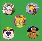 10 Sweet Animals Large Stickers Party Favors Cow Giraffe Cat Dog Panda