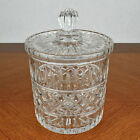 Clear Lead Crystal Glass Biscuit Barrel Tobacco Jar Ice Bucket with Lid