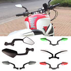 Motorcycle Naked Sport Bike Cruiser Chopper Angled Adjustable Side Mirror 8-10MM
