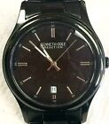 Men's Kenneth Cole Stainless Steel Watch With Black Face 826