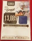 2011 NATIONAL TREASURES Notable Numbers STEVE LARGENT Error no ×× or auto