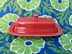 Fiesta Scarlet Red Covered Butter Dish Fiestaware Retired Color! EUC