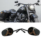 For Harley Road King Special Rearview Mirrors Long Stem Style Black Full Metal G