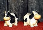 Cow Salt and Pepper Shakers Ceramic Crazy Eyes