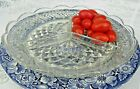 Anchor Hocking Wexford Clear 3-Part Relish Dish Heavy Pressed Glass