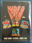 Vintage 1983 Topps Video City Trading Cards & Stickers Wax Box (Unpunched Box)