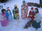 Empire blow molds nativity 3 wise men shepard Mary Joseph Baby Jesus light up