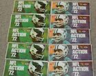 (10) 1972 Sunoco NFL Football Stamps, Unopened Packs