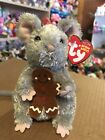 "Ty STIRRING -Grey Holiday Mouse 6"" Beanie Baby! *Retired* RARE & VHTF!!"