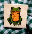 Frog   NEW Mtd Rubber Stamp