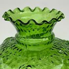 Emerald Green Cabbage Rose Reverse Thumbprint Oil/Student Lamp Shade 10