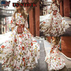 Womens Party Evening Boho Maxi Dress Ladies Holiday Long Sleeve Cocktail Summer